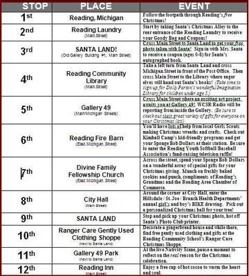 Christmas 2011 Schedule